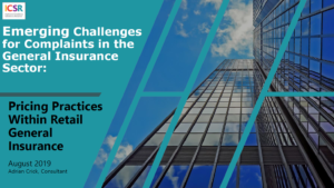 Emerging Challenges for Complaints - Pricing Practices