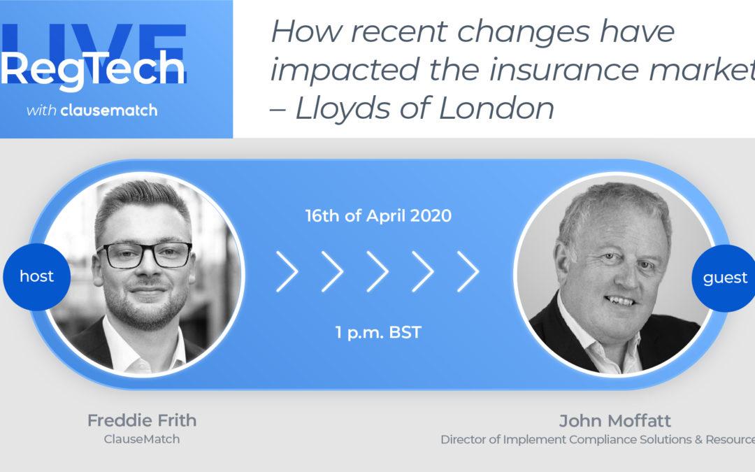 RegTech Live Featuring ICSR Director John Moffatt