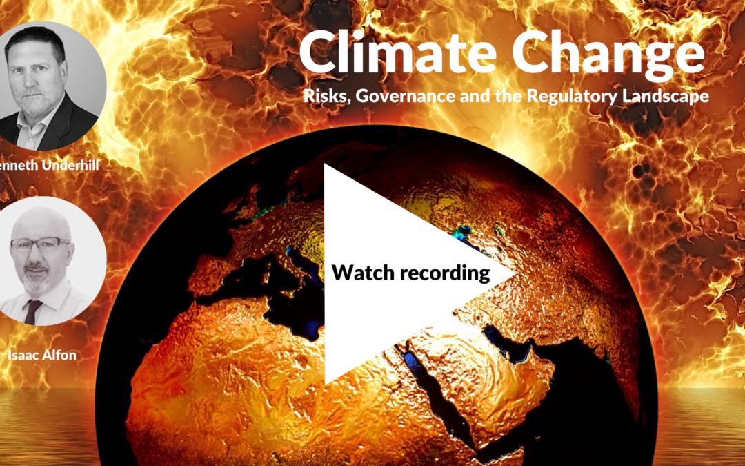 Climate Change Webinar Recording