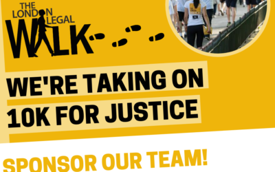 The ICSR Team Are Taking On The London Legal Support Trust 10k Walk
